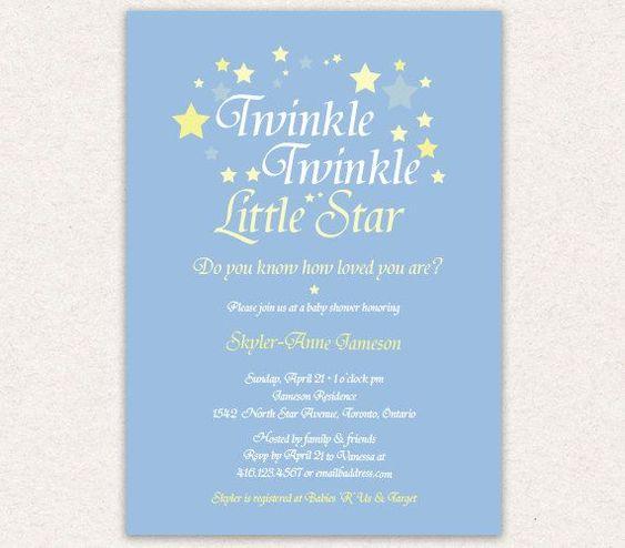 twinkle twinkle little star baby shower invitation wording – Baby Shower Invitation Words
