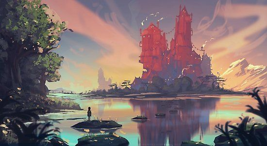 Millions Of Unique Designs By Independent Artists Find Your Thing Fantasy Landscape Art Animation Art