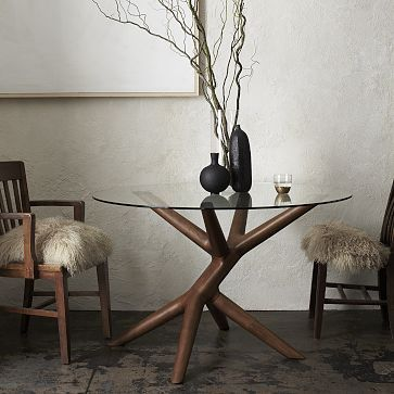 Love this for a grand central foyer...fancy legs would get in the way of actual dining - John Vogel Table, $619 #WestElm