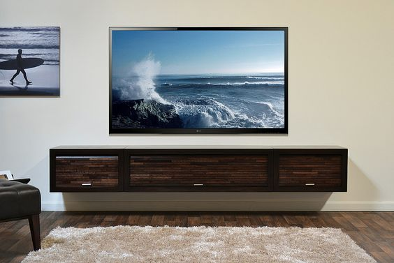 Wall Mount TV Stand ECO GEO Entertainment Center Espresso | Flickr - Photo Sharing!
