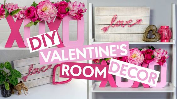 DIY Valentine's Day Decor- oday we made two pieces of home decor perfect to spruce up your space! One is a great DIY nail art craft, and the other one is a super fun and easy paper mache project that turned out so darn cute!