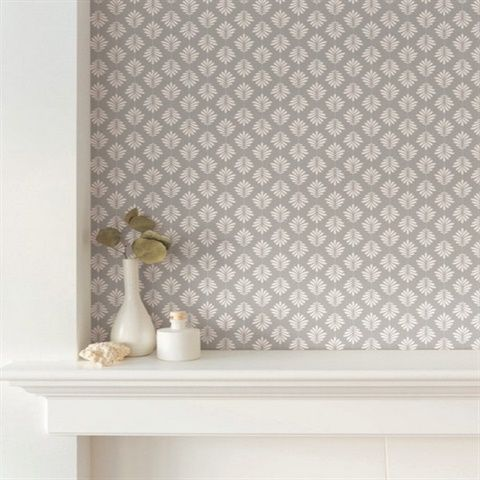 Grey White Leaflet Modern Floral Leaf Prepasted Wallpaper Prepasted Wallpaper Modern Floral Wall Coverings