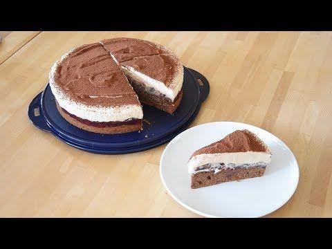 Cappuccino Kirsch Torte Thermomix Tm5 Youtube Torte Ohne Backen Lebensmittel Essen Kochen Und Backen