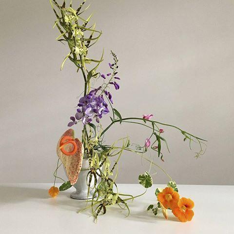 Fjura London L Wisteria And Nasturtium Simone Gooch Fjura Instagram Photos And Videos Nasturtium Ikebana Bloom