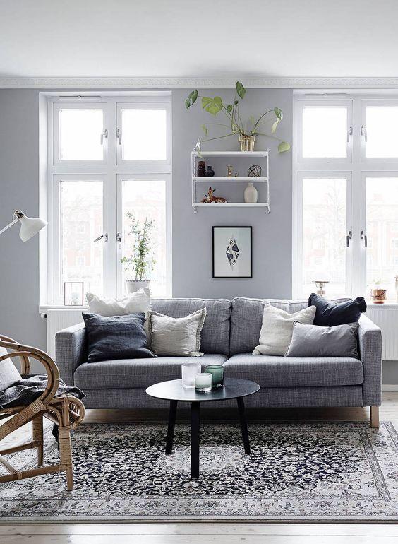 Grey Couch Living Room Design: Soft Grey Home - Via Cocolapinedesign.com