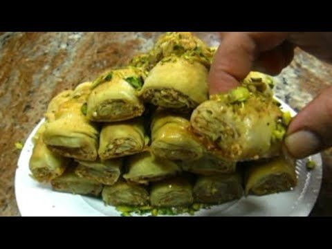 البقلاوه المقرمشه اللذيذه مع صنع عجينه البقلاوه في المنزل بابسط طريقه Youtube Food Brussel Sprout Vegetables