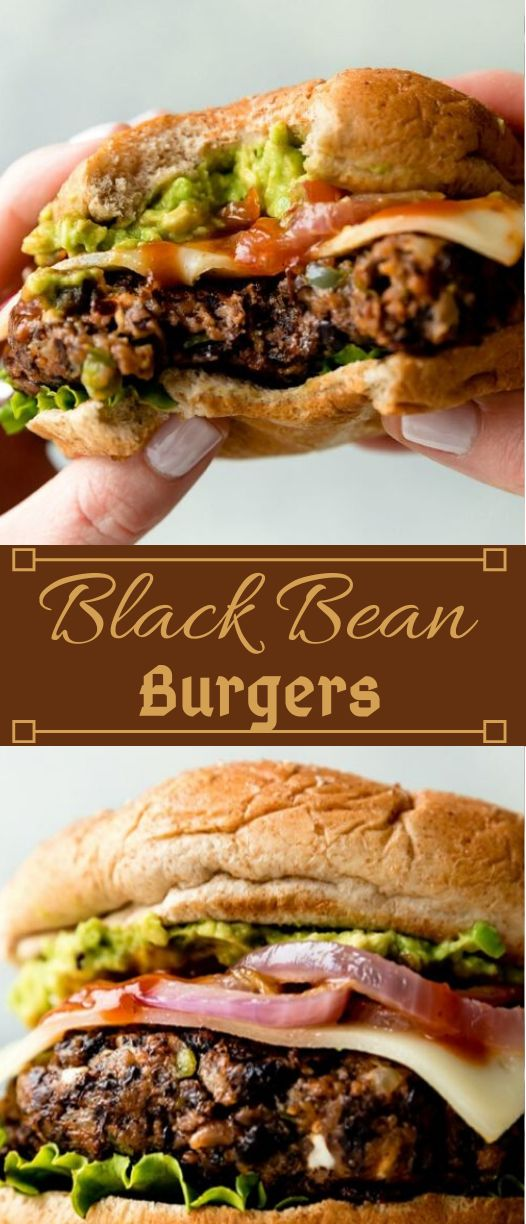 The Best Black Bean Burgers I've Ever Had #dinner #burger #easy healthy #lunch