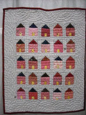 Pink Houses Quilt: