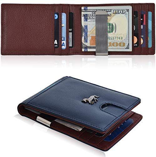 Minimalist Wallet Men/'s boy RFID Blocking Wallet Front Pocket Bifold Card Holder Black