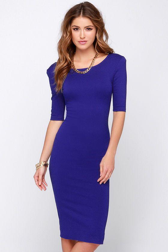 We Built This Midi Royal Blue Midi Dress at Lulus.com!