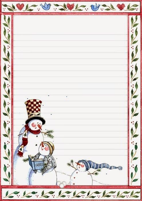 Amarna CRAFTS AND IMAGES: LETTERHEAD OF CHRISTMAS AND NEW YEAR - click on images to enlarge them