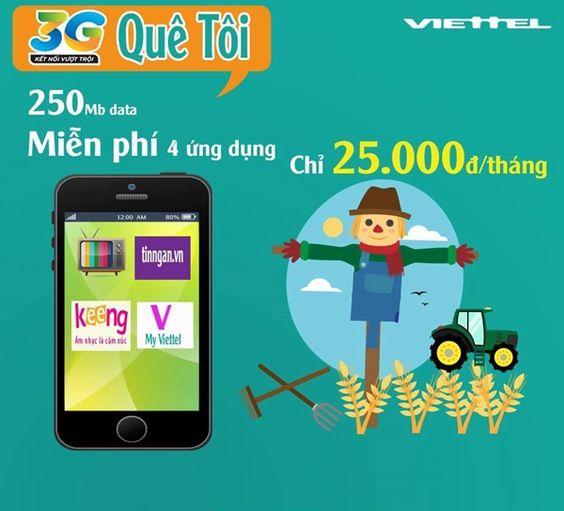 Gói cước 3G QUÊ TÔI của Viettel ưu đãi siêu hấp dẫn!