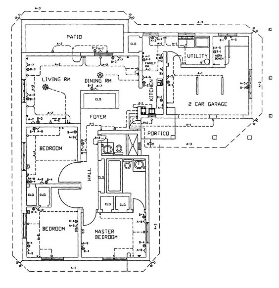 home plans, building and home on, electrical drawing