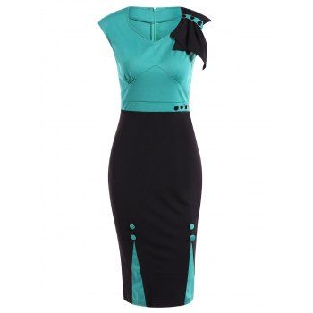 SHARE & Get it FREE | Two Tone Pencil Dress For WorkFor Fashion Lovers only:80,000+ Items·FREE SHIPPING Join Dresslily: Get YOUR $50 NOW!