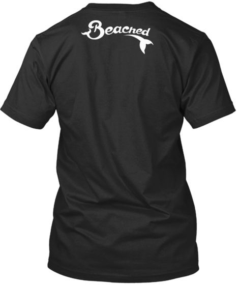 Beached (Black Shirt, White Logo)