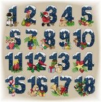бесплатная схема для вышивки рождественского календаря (адвент календарь)
