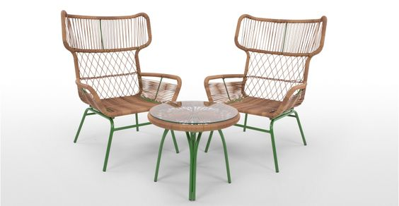 Lyra Outdoor Lounge Set, Green | made.com