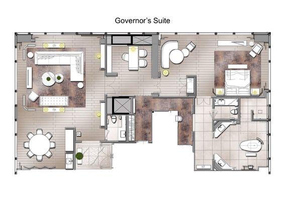 The St Regis Hong Kong Governor Suite In 2020 Hotel Floor Plan Hotel Floor Room Planning