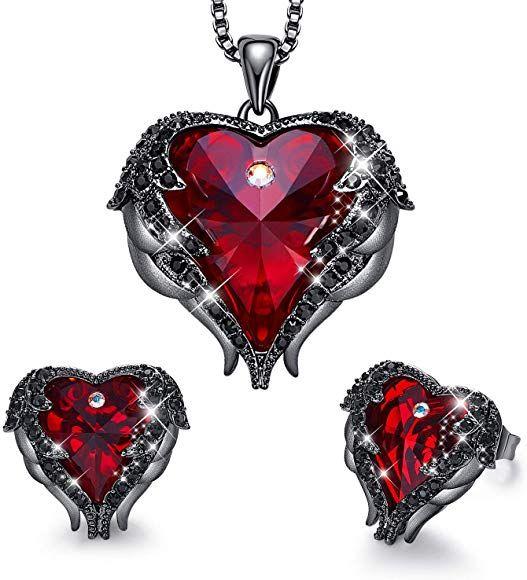 Womens Ladies Infinity Love Crystal Stud EarringsSilver Plated Christmas Gift