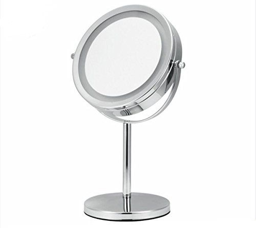 7 Inch 10x Magnification Makeup Mirror Dual 2 Sided Round Shape