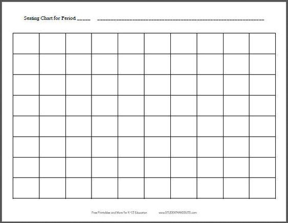 10x8 Horizontal Classroom Seating Chart Template Free Printable – Free Classroom Seating Chart Maker