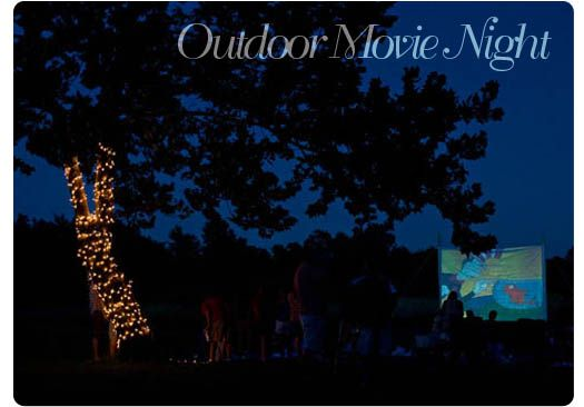 mmm... outdoor movie night- perfect for summer!