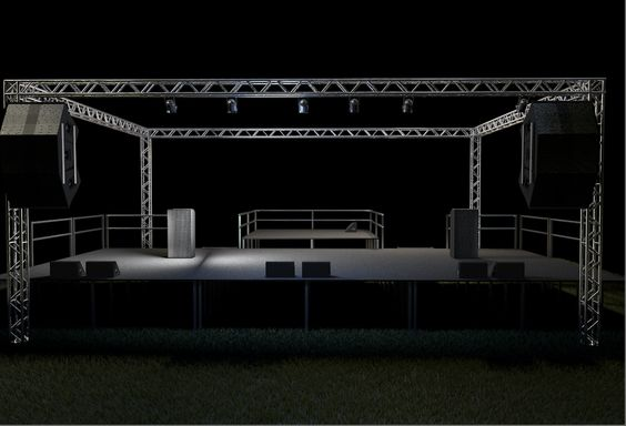 Concert Stage 3D Model Download | c4d - 3D Squirrel