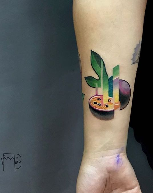Lesha Lauz Passion Fruit Tattoo Fruit Tattoo Tattoos Tattoos