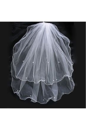 Véus de Noiva Véus cotovelo Duas camadas Ao ar livre Tule