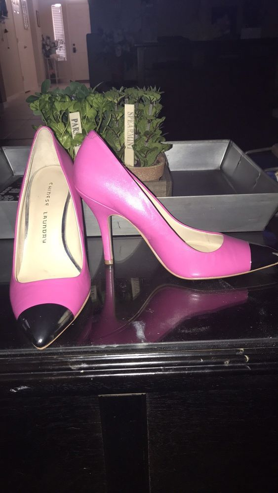 Chinese Laundry Heels Size 7 5 Hot Pink Silver Chrome Platform