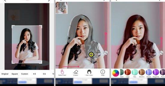 Aplikasi Edit Foto Ganti Warna Rambut 5 Aplikasi Pengubah Warna Rambut Gratis Di Android Semutsujud Cara Membuat Foto Opla Pengeditan Foto Warna Rambut Warna