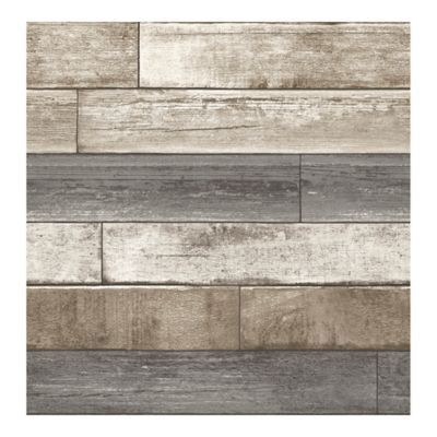 A Street Prints Reclaimed Weathered Plank Wallpaper In Grey Reclaimed Wood Wallpaper Wood Wallpaper Nuwallpaper