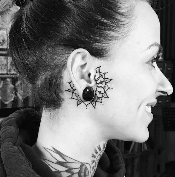 50 Tiny And Cute Ear Tattoos Designs And Ideas Tattoo Designs Tattoedgirl In 2020 Small Face Tattoos Ear Tattoo Face Tattoos For Women