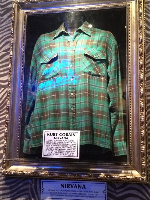 Kurt Cobain's flannel shirt in Hard Rock Café Oslo