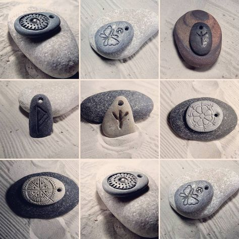 Hand Engraved Pendants Create Your Own Necklace With Baltic Beach Stone Soon Available On Etsy Etsy Balticstone Dremel Crafts Stone Crafts Dremel Carving