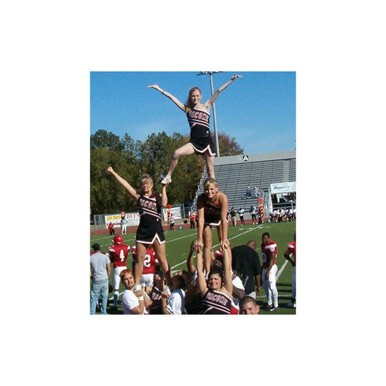 Bacone College Cheerleaders - Featured Stunt 211 Hitch ❤ liked on Polyvore featuring cheer, cheerleading, site models, pictures и sport