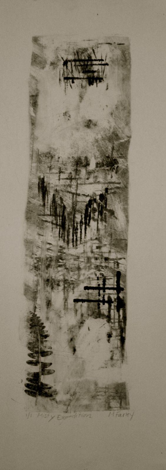 Printmaking-Abstract Monoprints.