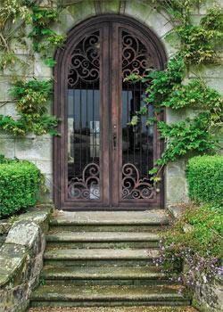 Doors Custom Glass And Irons On Pinterest