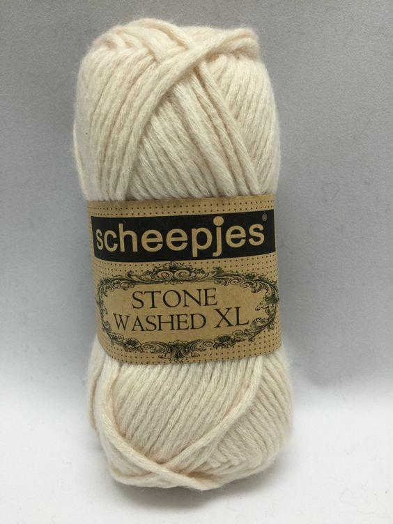 Moonstone, 841, Sheepjes Stone Washed XL, Ivory Yarn, Cotton Yarn by GoodFiberYarns on Etsy https://www.etsy.com/listing/262250597/moonstone-841-sheepjes-stone-washed-xl
