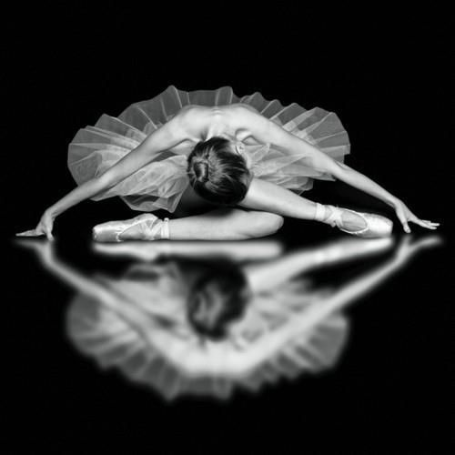 Ballerina....lovely use of reflection