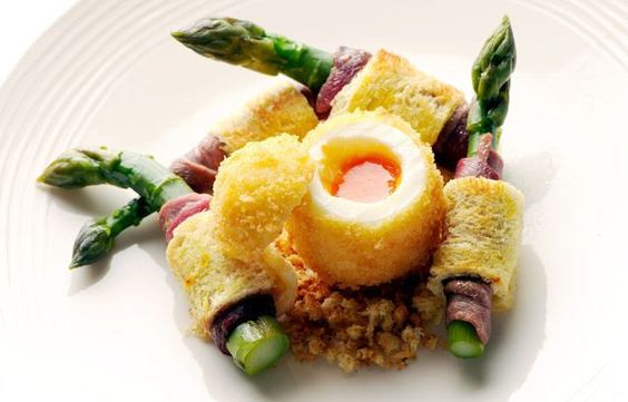 Boiled Egg & Soldiers by Nathan Outlaw: With saffron bread and smoked duck breast! #Egg_and_Soldiers