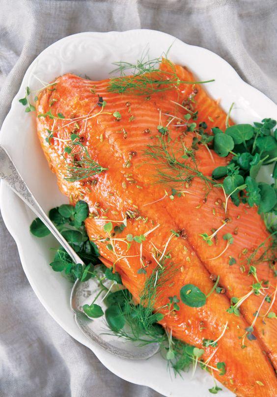 Matt Lambert's roasted side of  Ora King Salmon