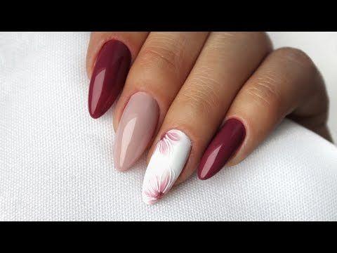 24 Delicate Flower Nail Designs Delikatne Zdobienia Kwiaty Na Paznokciach Youtube Flower Nails Nails Inspiration Pink Nail Art
