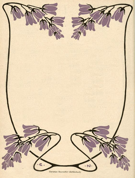 Art Nouveau Frame ~ Illustrated by Christian Neureuther from Jugend magazine, 1902.: