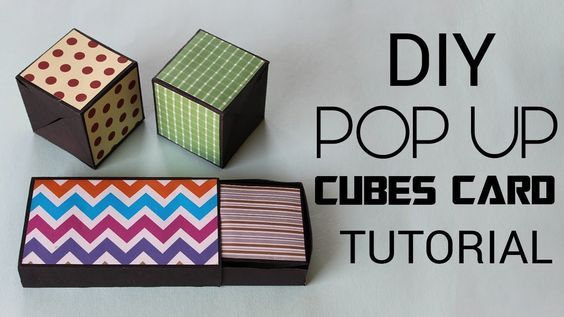 Pop Up Cubes Card How To Make Pop Up Cubes In A Box Tutorial Youtube Pop Up Box Cards Birthday Card Pop Up Box Cards Tutorial