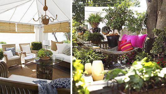 decoração de varanda, quintal e jardim.