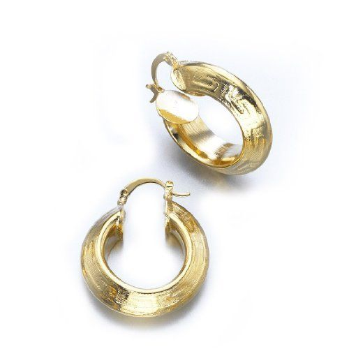 Twisted Hoop Earrings - Yellow Gold Plated LIOR. $59.90. Twsited. Hoop
