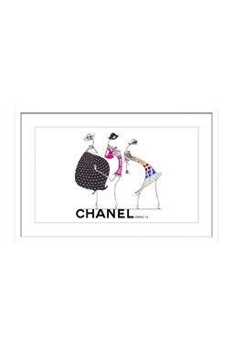 Ladies of Chanel White Framed Print Wall Art
