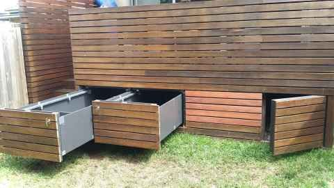 Clever Garden Shed Storage Ideas46 In 2020 Deck Storage Under