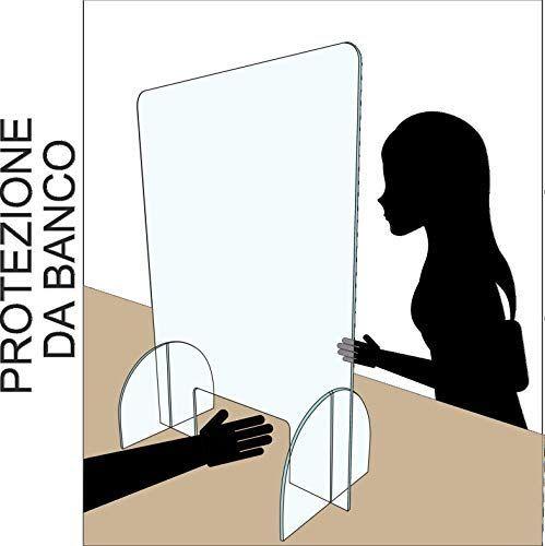 parafiato passasoldi Parete divisoria per la Sicurezza in Vero plexiglas extratrasparente cm Regalami.Shop barriera parasputi 60x43